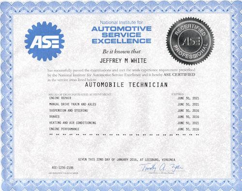 automotive ase technician certifications certified technology training certification technical assabet technicial valley board webassets